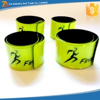 EN13356 Hot Sale PVC Reflective Slap Wrap Band for Running