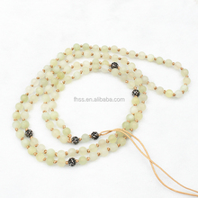 Sweater necklace,6mm beads natural jewelry, Hand-made dress necklace