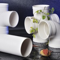 White pvc drainage pipe and fittings hot sale comply with standard GB/T 5836