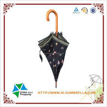 23'' Beautiful Manual wooden umbrella with fashionable element