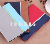 PU Leather Cover Folio Ultra Slim Jeans Skin Smart Magnetic Flip Case Cover for iPad 2 3 4