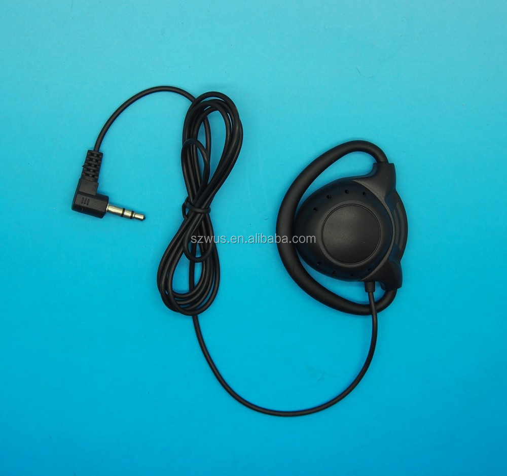 3.5mm D-Shape Earphones with L plug for Walkie Talkie and Conference