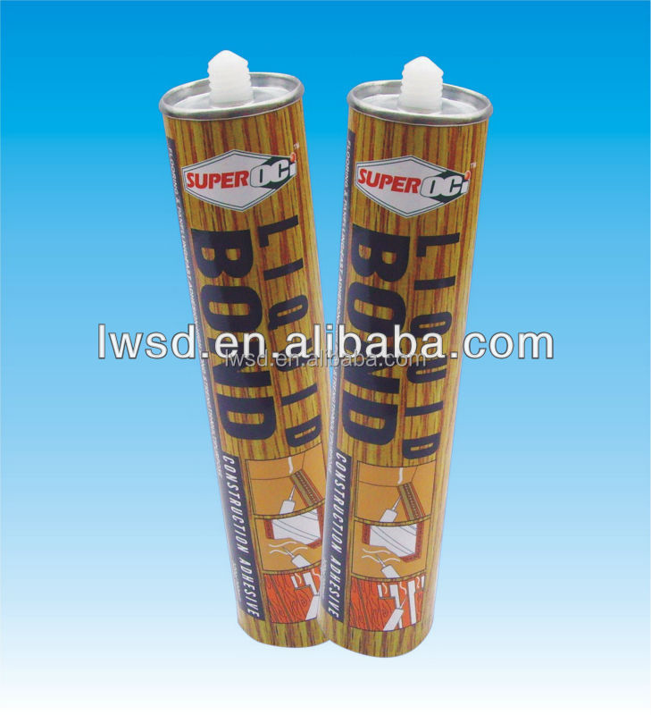 Flexibility woodwork adhesive liquid nail quality glues no nail/waterproof adhesive/liquid material