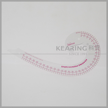 Kearing brand sandwich line printing 32cm metric french curve ruler for fashion designers,tailors,handicraft,pattern making#6032