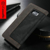 OEM handmake phone case for s7 fancy back for galaxy s7 edge,stand Holder Waterproof Bag PU Leather for samsung hard case cover