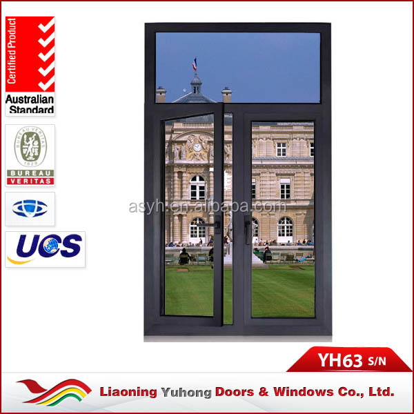 Hot sell inward opening aluminum interior double swing french doors