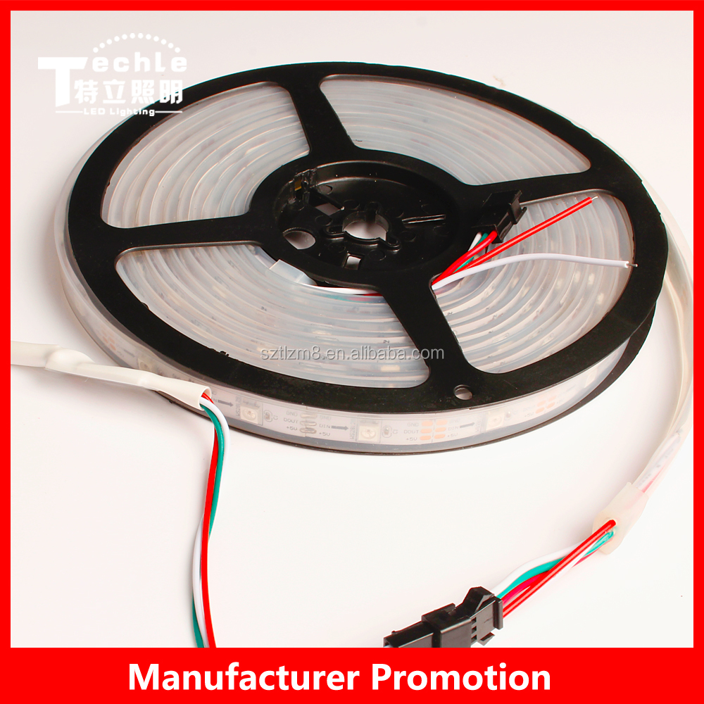 programmable ws2812b led strip 5050 Flexible lighting water resistance silicon tube