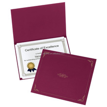 customize leather A4 certificate folder OEM factory elegant diploma holder