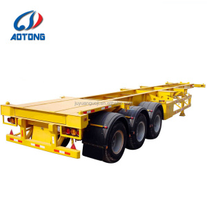Good quality 3 axle terminal 45ft skeleton container transport semi trailer/truck trailers for sale