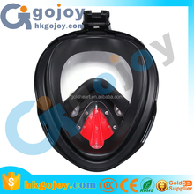 water sports black silicone scuba mask snorkling 3m mask full face for hidden spy camera