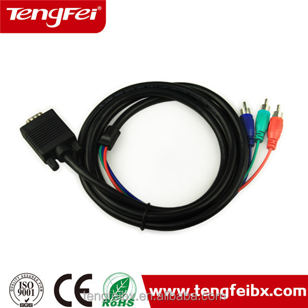 Tengfei high end 3 rca to 3rca cable VGA splitter