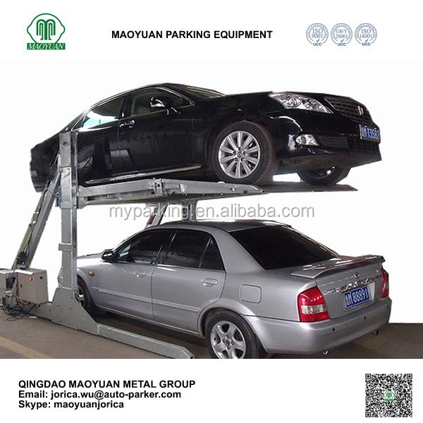 Two Post Tilt underground garage lift hydraulic Parking Lift vertical automated parking equipment