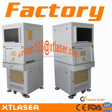 Best sale 2014 !! good quality marking area 110*110mm desktop fiber laser marking machine with protective coverings