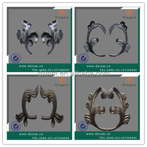 The iron grill design for terrace and philippines gates and fences used the ornaments cast steel for sale