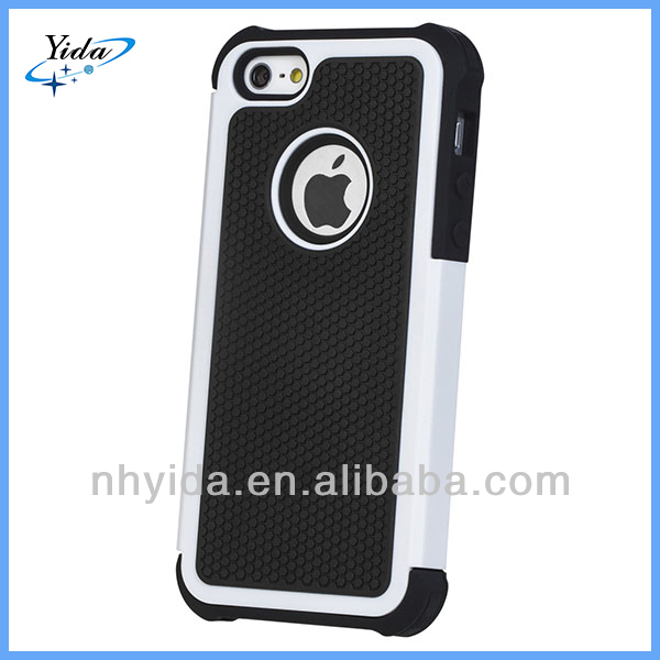 High Quality PC + Silicone Rugged Mobile Phone Case For iPhone 5C
