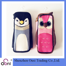 2017 animal shape pencil bag custom pencil pouch for girls