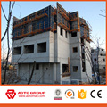 Steel frame adjustable quadrilateral concrete column formwork