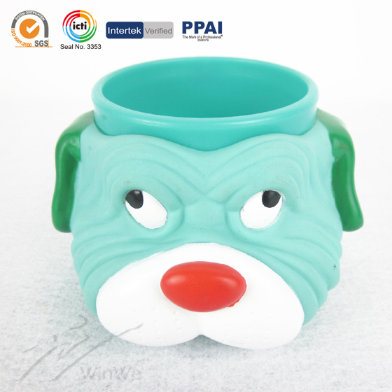 plastic flower pot with fun cartoon looney tunes shape with handle