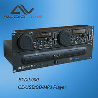 19 inch rack mount SCDJ-900 Professional double CD/USB/SD/MP3 Player