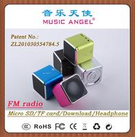 MUSIC ANGEL JH-MD07D earphone small powerful laptop speakers lcd alarm clock