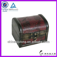 Arched Lid Wooden Secret Private Chest Treasure Box With Lock