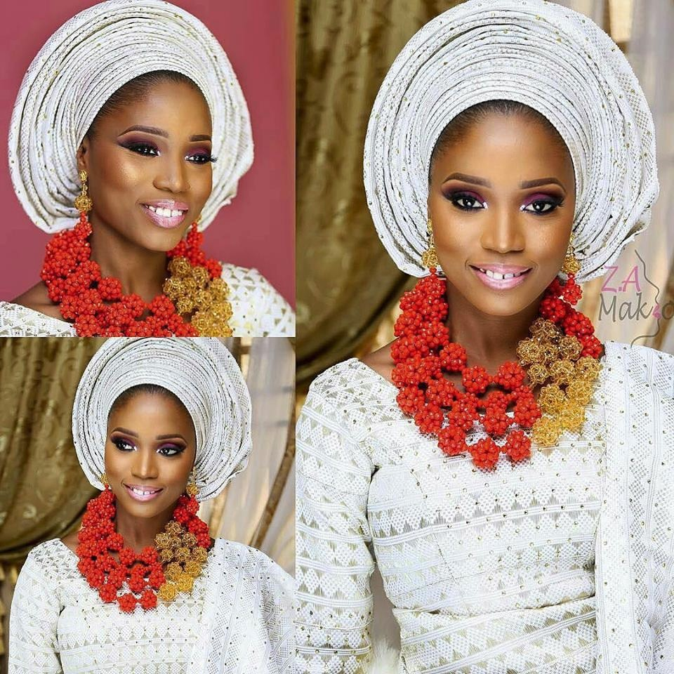Latest design african wedding beads jewelry set nigerian beads jewelry set for wedding party