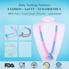 Various hot sales colorful jewelry food grade silicone necklace and beads and