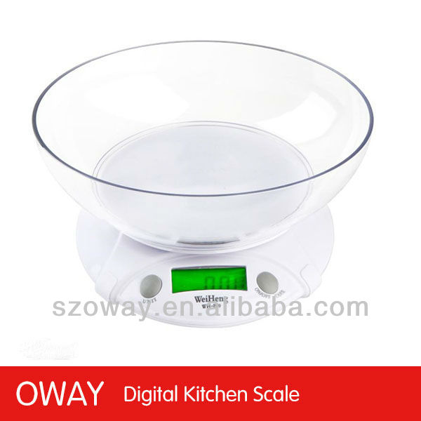 High precision electronic kitchen scale bowl