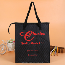 Promotional wholesale non woven insulated grocery thermal cooler bag