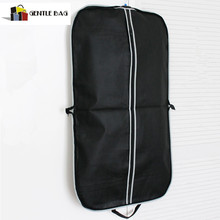 Promotional Black Garment Bag with Silver zip Up Hanging,Suit Dress Coat Garment Bag Clothes Cover Protector Travel