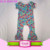 New arrival Cotton baby romper bodysuit rainbow arrow baby clothes romper with ruffle
