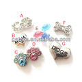 hot sale fashion pet accessories heart floating charms