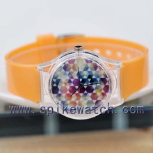Wholesale new design PVC wristband colourful cheapest gift watch
