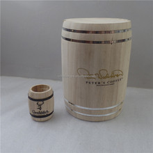 Cute Mini Wood Coffee Bean Storage Packaging Gift Barrel Imitation Wooden Barrel