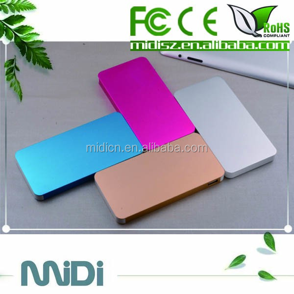 New arrival special design ultra thin power bank 8000mah for all smart phones