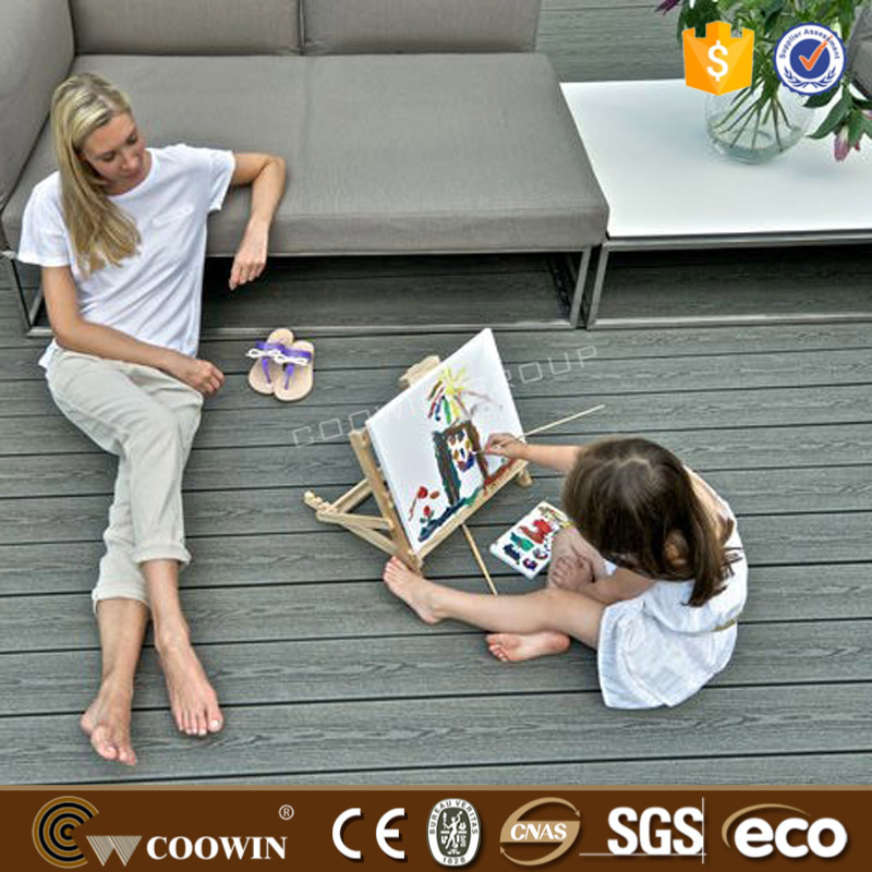 WPC outdoor floor Wood Plastic Composite Decorate Decking 3d timber floor