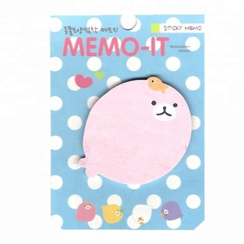 Promotional fancy cute cartoon foot shaped notepad sticky notes with logo
