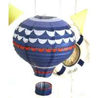 paper hot air balloons Lighted up square paper lantern