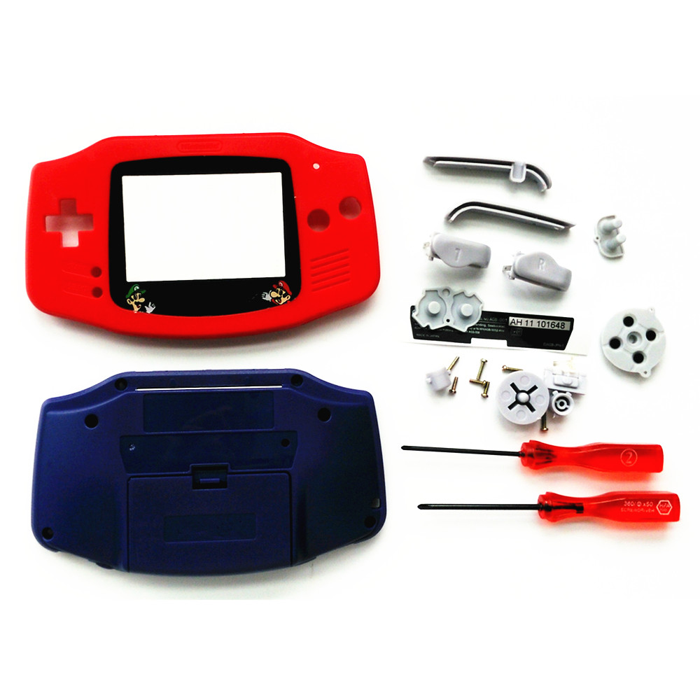 For GBA Pokemon Limitd Version Red & Blue Housing Shell For GBA Housing Case Pack