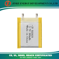 Factory price 3.7V 360mAh Rechargeable lifepo4 lithium battery