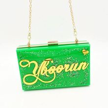 Hot selling matching green shoes and bags