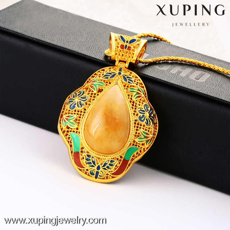 xuping fashion wedding souvenirs colorful gem stone jewelry pendant