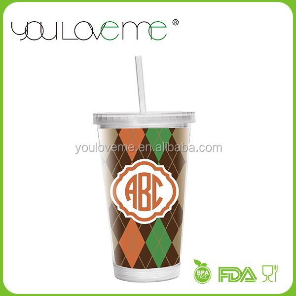 wholesale alibaba screw bottom double wall plastic tumbler with lid, acrylic tumbler with removable insert
