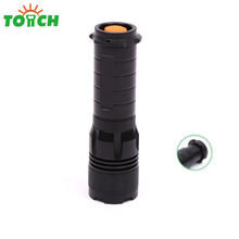2018 New design led tail zoomable flash lights tactical powerful led hand lantern torch for hunting