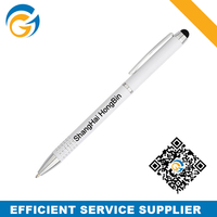 Pen Parker with Touch Stylus with Clip White Color Pen Holder