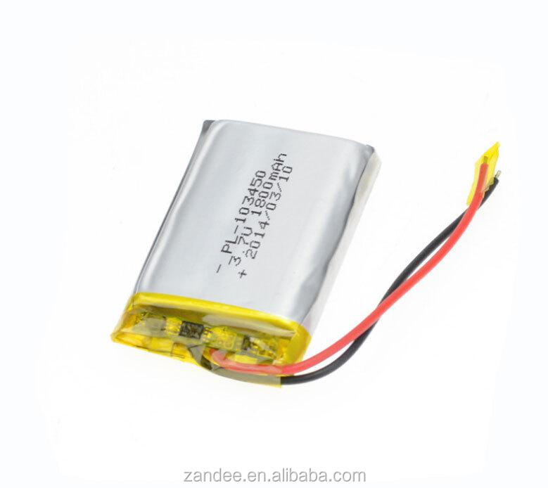 RoHS certified ultra thin lithium polymer battery flat li-ion battery cell 3.7v
