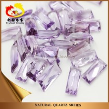 Loose gemstone facets cut rectangle natural stone amethyst