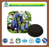 GMP factory supply herb organic Sweetberry honeysuckle extract powder