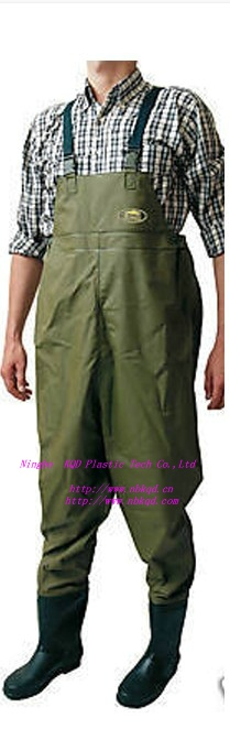 Waterproof PVC Nylon Breathable Fishing Chest Waders