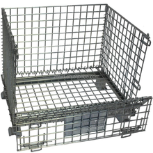 Steel mesh pallet rack powder coating china suppliers Q235 plate heavy duty storage cage